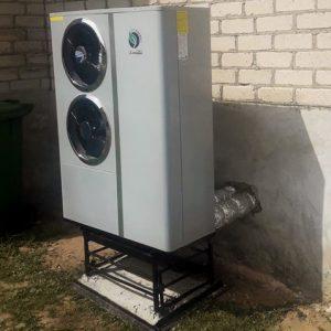 Monoblokas inverteris 7.2 kW - Oras vanduo šilumos siurblys
