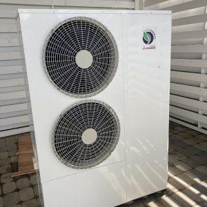 20 kW EVI Invertora monobloks gaiss-ūdens apsildes sistēma